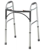 Deluxe Two Button Folding Walker Two Button Adult New - $39.26