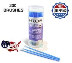 200pcs Eyelash Extensions Micro Brushes Disposable Swab MEDIUM/Blue USA ... - $12.89