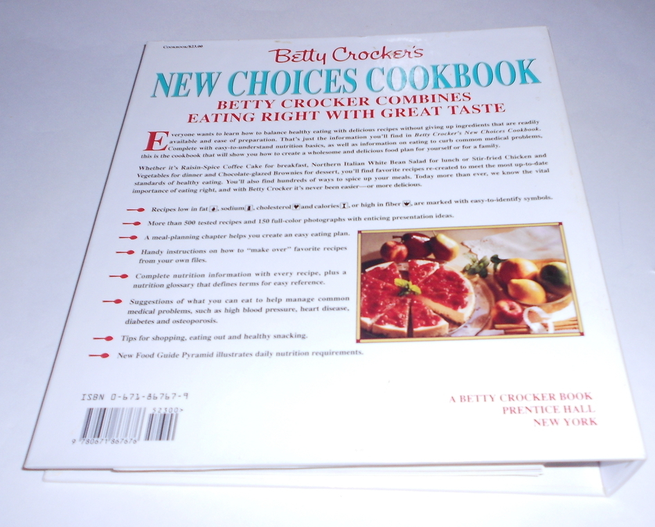 Betty Crocker's New Choices Cookbook Binder Format