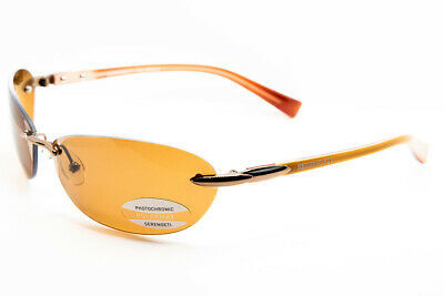 Primary image for SERENGETI PALMA Satin Bronze Polarized Drivers Sunglasses 7152