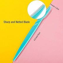Boao 60 Pieces Eyebrow Razor Shaper Trimmer Shaver Women Facial Razor with Preci image 2