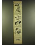 1944 Kleenex Tissues Ad - That's my brand pard - $14.99