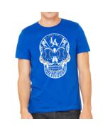 sugar skull Los Angeles Dodgers Dia De Los Muertos Floral Skull Unisex T... - $19.79+