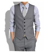 Men's British style Waistcoat Joker Trend Waistcoat Leisure Suit Vest - ₨1,010.93 INR+