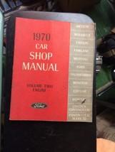 1970 Ford Car Volume 2 Engine  Shop MANUAL Vintage car automobile repair - $39.99