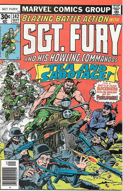 Sgt. Fury and His Howling Commandos Comic Book #142 Marvel 1977 VERY FINE