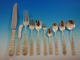 Repousse by Kirk Sterling Silver Flatware Set for 12 Service 134 Pieces Dinner - $9,650.00