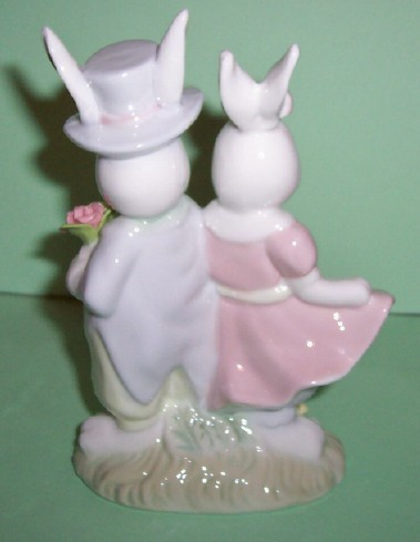 Home Interiors Bunnie Couple Figurine Easter Finery