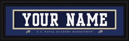 "Personalized U. S. Naval Academy ""Midshipmen"" Stitched Jersey Framed Print - $39.95"