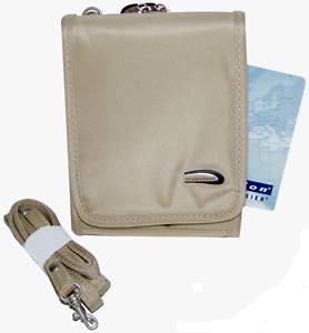 TRAVELON Microfiber Cross Body Organizer Bag/Wallet Bonanza