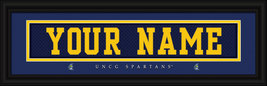 "Personalized University of NC-Greensboro ""Spartans"" Stitched Jersey Fram... - $39.95"