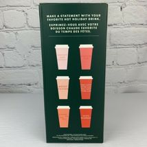 Starbucks 2019 Reusable Hot Cups With Lids Christmas Set Of 5 Venti 24oz NEW image 4