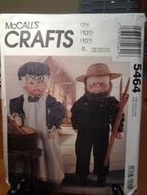 MCCall's Crafts 5464 Grandma & Grandpa Dolls & Clothes  Dated 1991, Vint... - $7.99
