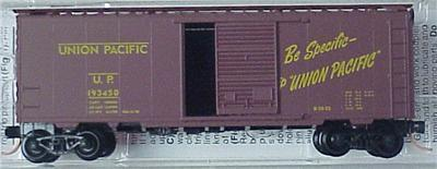 "Micro Trains 20296 UP ""Streamliners"" 40' Boxcar 193450"