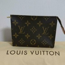 Louis Vuitton Pouch Mini Bag Monogram Poche Toilet Leather UU1110 Genuin... - $381.00