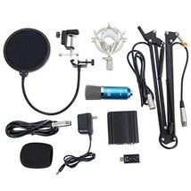 Recording Podcasting Studio 3.5mm Condenser Microphone w/ 48V Power Supply - $74.48