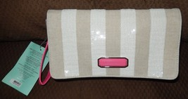 Victoria's Secret Sexy Little Things Light Taupe Sequin Clutch Purse Makeup Bag - $14.97