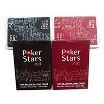 1 Set Poker Stars Texas Hold'Em Plastic Playing Cards Waterproof Card Bo... - $8.11+