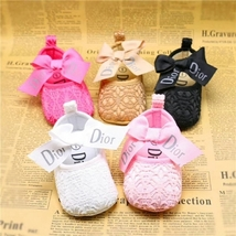 5 Color Newborn Baby Girls Laces Dress Shoes Soft Bottom Toddler Shoes D154 - $15.99