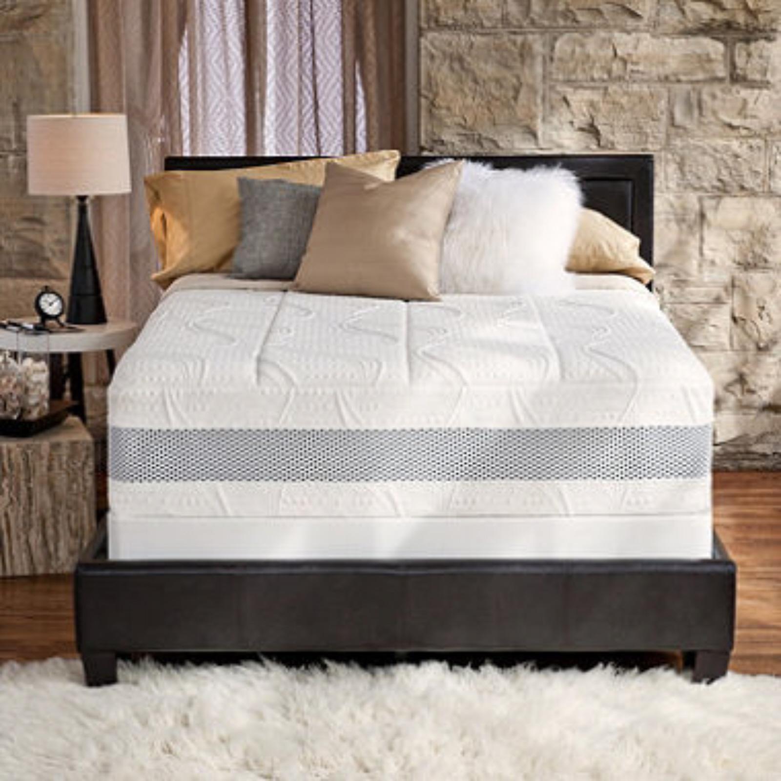 14 night therapy deluxe grand memory foam mattress bi fold box spring set new mattresses Memory foam mattress set