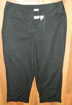 Womens Classic Liz Claiborne Black Cropped Pants size 8 / 30x22 - $13.98