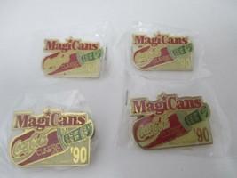 MagiCans Lot of 4 Vintage Coca Cola Classic Pin Can Real Cash Magic Summ... - $12.00