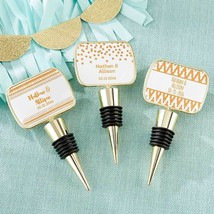 Personalized Gold Bottle Stopper - Copper Foil(24 Pcs)  - $89.99