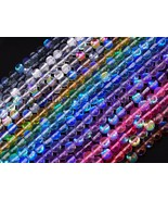 Top Quality Czech Crystal Glass Aurore Boreale Inside Round Beads 6mm 8m... - $4.62+