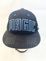 Adidas Orlando Magic Fitted Hat Size 7 1/4 - 7 5/8 Black  - $7.87