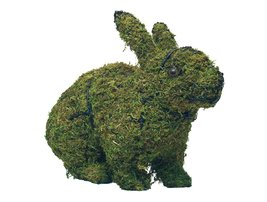 "Hopping Rabbit 17"" and 26"" Topiary Sculpture - Wire Frame or Moss Filled - $48.82+"