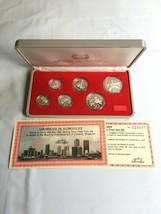 1985 Singapore 6 Coin Silver Proof Set Lot#B88 1 Cent-$1 Dollar Scarce Set! - $93.50