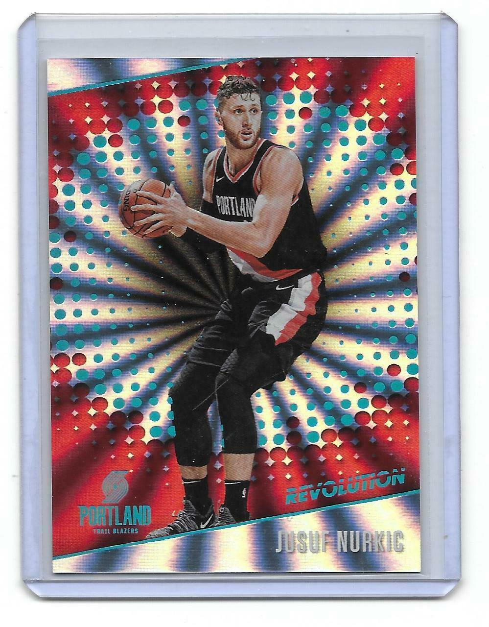 2017-18 Panini Revolution Sunburst Jusuf Nurkic Parallel Card-#/75