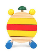 Cute Wooden Toys Assembled Disassemble Blocks Clock - $168,04 MXN