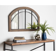 Farmhouse Wall Mirror Rustic Country Cottage Arch Modern Window Pane Col... - $179.95
