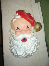 "Vintage Large Styrofoam Santa Claus Face Head Door Wall Hanging-18"" - $50.00"