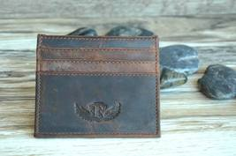 Men's Credit Card Case Card Holder Made of Cowskin Leather Brown W6121-063 - $9.50