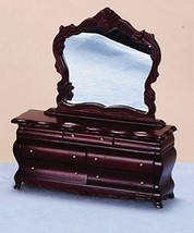 Dollhouse Miniature 1:12 Scale Fancy Mahogany Victorian Dresser with Mir... - $44.19