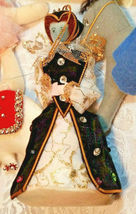 6 Vintage Christmas Ornaments - Mary & Jesus, English Lady, Ballet Angel & More image 4