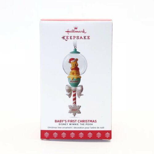 Primary image for 2017 Hallmark Keepsake Ornament Winnie the Pooh Baby's First Christmas Disney