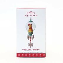 2017 Hallmark Keepsake Ornament Winnie the Pooh Baby's First Christmas D... - $12.61