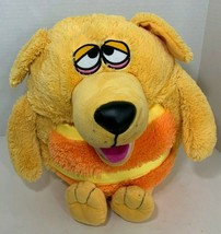 Jay At Play Yellow orange Puppy Dog Plush KooKoo Kennel Mushable squeak ... - $9.89