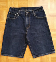 MEN's Levi's 569 Loose Straight Fit Dark Denim Wash Jeans Shorts Size 30 - $13.99