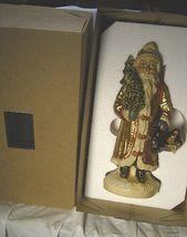 Vaillancourt Folk Art Gold European Father Christmas, signed by Judi! Last one! image 8