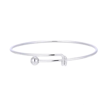 Cage Pendant Bangle Bracelets With With Oyster Pearl- 1 x Random design image 2
