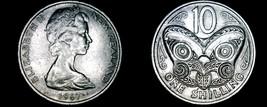 1967 New Zealand 10 Cent World Coin - Elizabeth II - $4.99