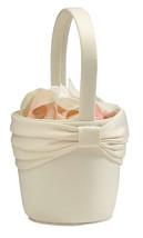 Ivory Flower Basket Flower Girl Basket wedding basket - $9.98