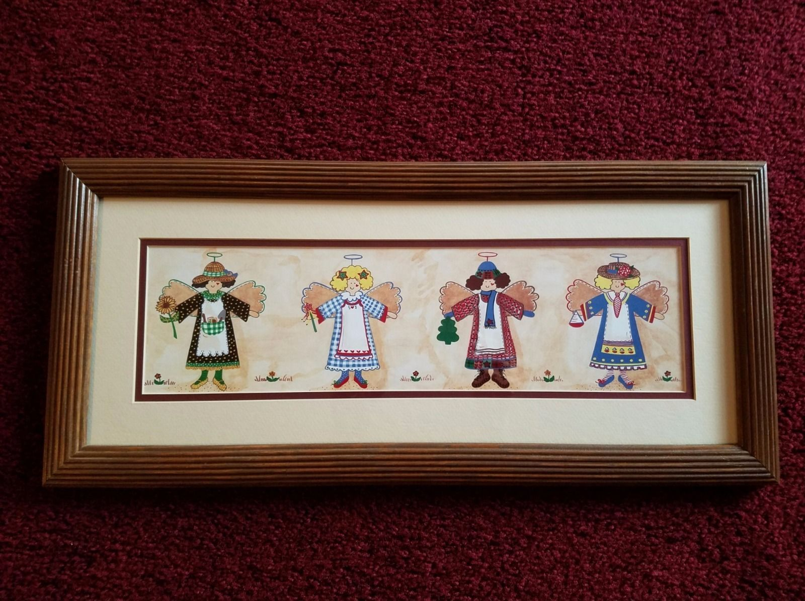 Home Interior Four Angels Picture Good Used Condition