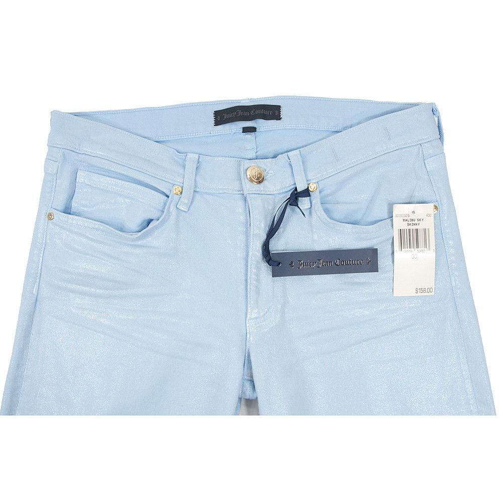 Juicy Couture Black Label Malibu Sky Iridescent Stretch Skinny Jeans 30 NWT image 6