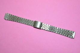 Vintage Stainless Steel Ladies Watch Band 12 mm Ends Adjustable length u... - $12.97
