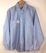 Elbeco Men Corporate Apparel Uniform Shirt XL Lt Blue L/S Button EMT 17.... - $21.77